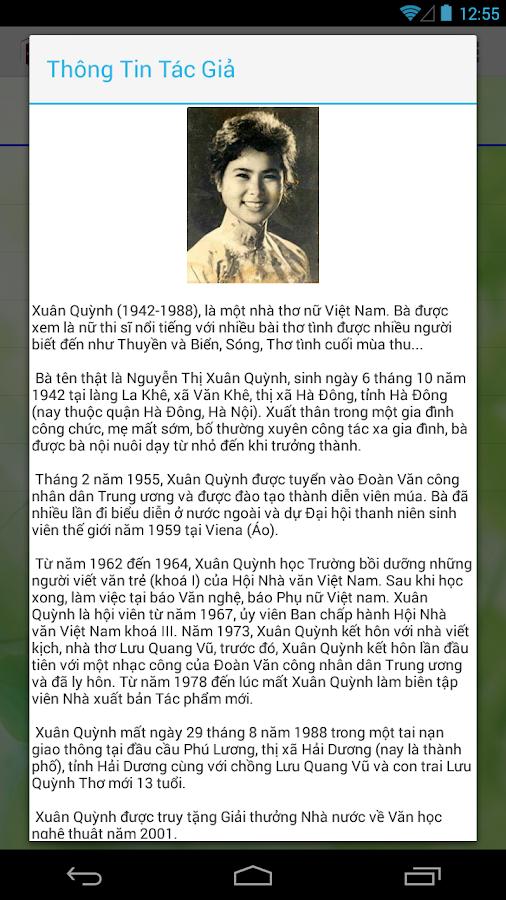 Thơ Xuân Quỳnh - screenshot