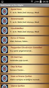Sesli Dualar ve Dini Bilgiler - náhled