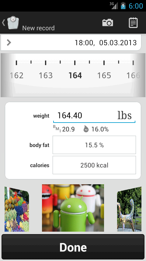 Weight Tracker weight loss app - screenshot