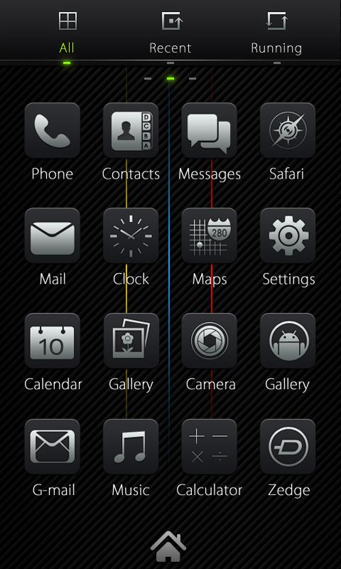Dark GO Locker Theme - screenshot
