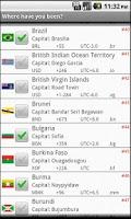 Screenshot of Country ticklist
