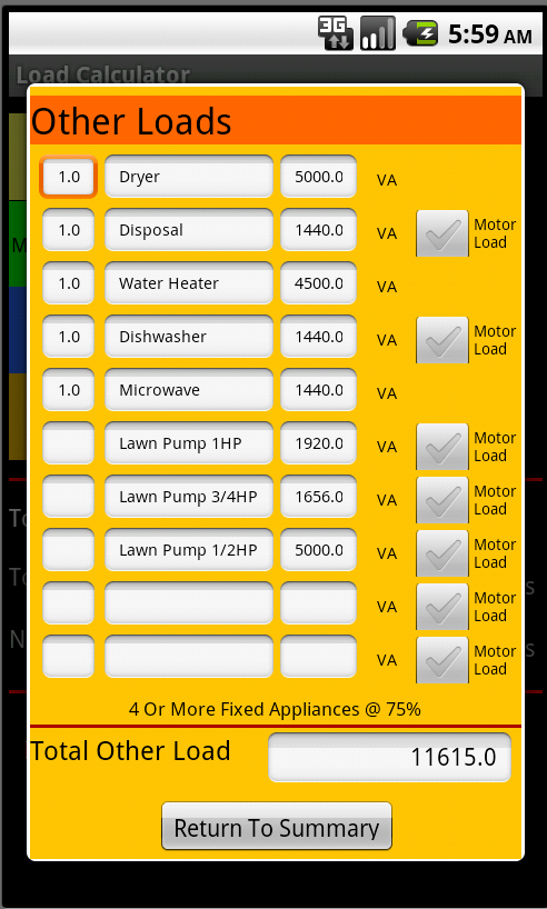 Worksheets Hvac Residential Load Calculation Worksheet load calculator android apps on google play screenshot
