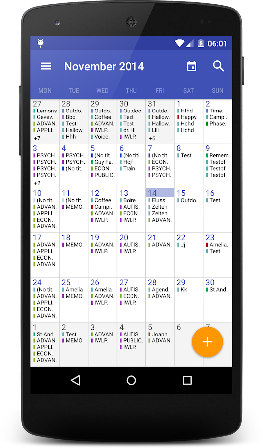 Today Calendar - Pro- screenshot