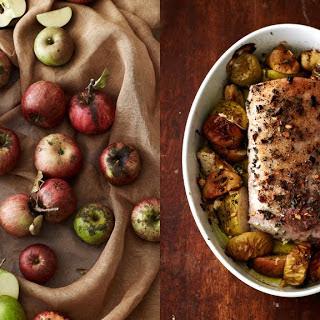 Roast Pork Loin with Apples & Sage.
