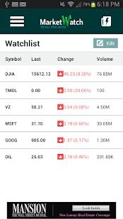 MarketWatch - screenshot thumbnail