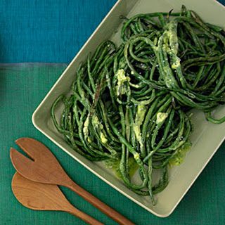 Roasted Long Beans with Herb Butter