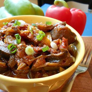 Slow Cooked Mediterranean Eggplant Salad.