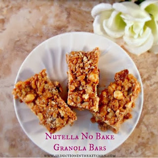 Nutella No Bake Granola Bars