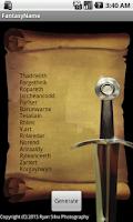 Screenshot of Fantasy Name