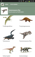 Screenshot of Dinosaur Sounds