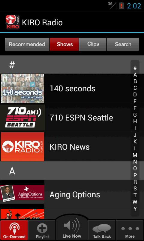 KIRO Radio- screenshot