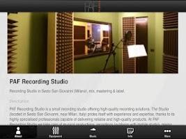 Screenshot of PAF Recording Studio