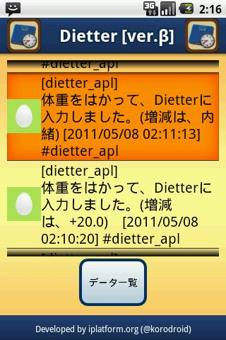 Dietter - screenshot