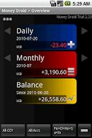 Screenshot of Money Droid Pro