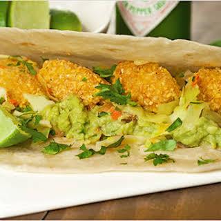 Crispy Fish Tacos w/Guacamole and Slaw.