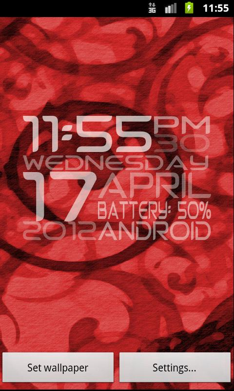 ClockBox Live Wallpaper - screenshot