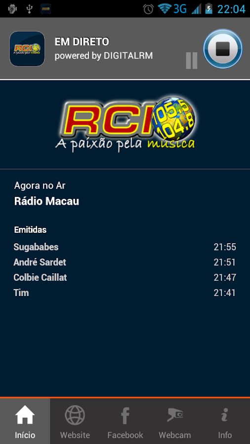 RCI Viseu- screenshot