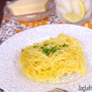 Spaghetti Squash with Garlic and Butter-A Toaster Oven