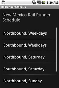 Railrunner Schedule - screenshot thumbnail