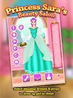 Screenshot of Princess Sara Beauty Spa Salon