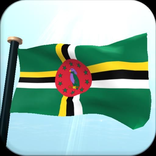 多米尼加旗3D免费动态壁纸 個人化 LOGO-玩APPs