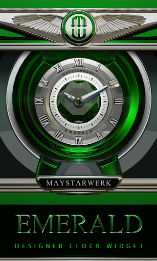 Clock Widget Emerald