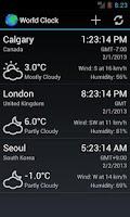 Screenshot of World Clock & Weather Widget