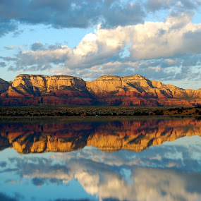 Sedona By the Pool by Natures Grenade - Landscapes Waterscapes