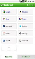 Screenshot of MyBookmark Pro add-on