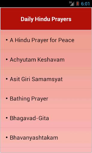 Daily Hindu Prayers