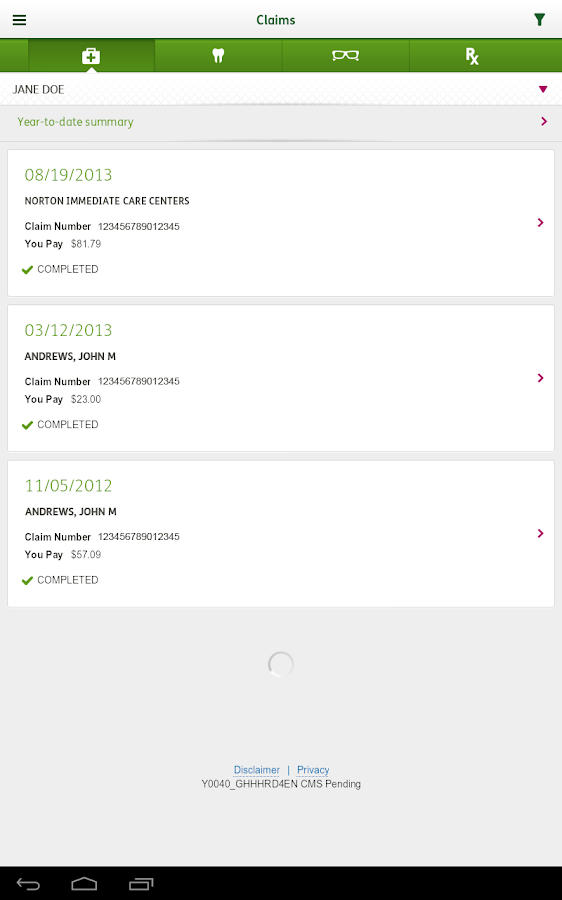MyHumana Mobile - screenshot