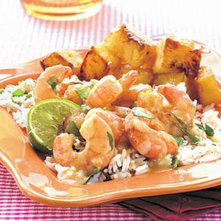 Spicy Green Curry–Cilantro Shrimp