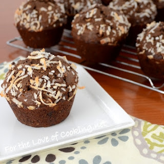 Chocolate, Banana, and Coconut Muffins.