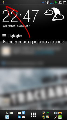 K-Index monitor