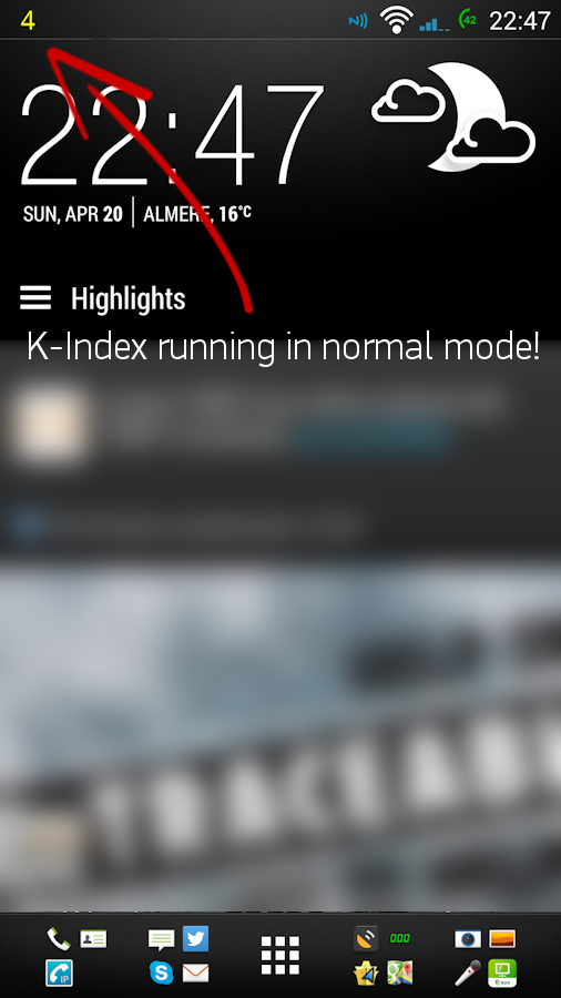 K-Index monitor- screenshot