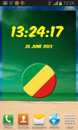 Republic of the Congo Clock