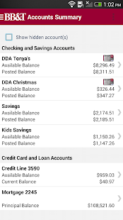 BB&T Mobile Banking - screenshot thumbnail