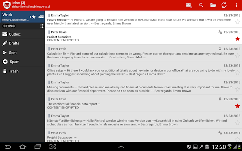 my Secure Mail - email app- screenshot thumbnail