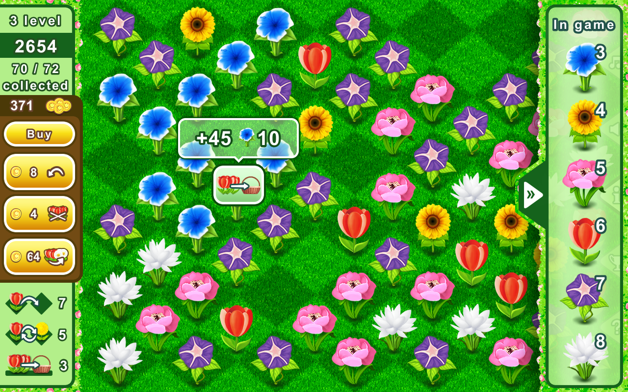Bouquets - puzzle flower mania- screenshot