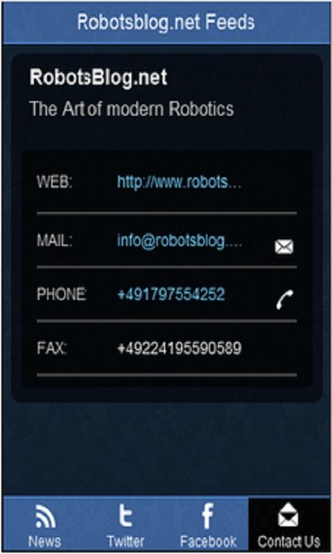 RobotsBlog News Feeds- screenshot