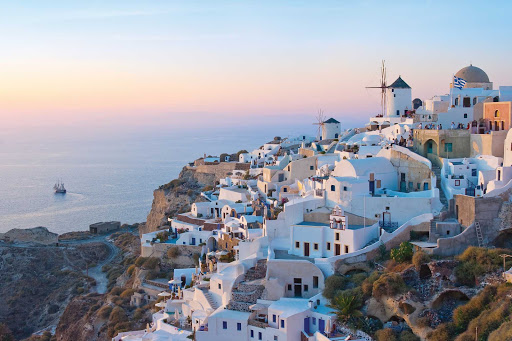 Santorini-Greece-hillside - Explore Santorini and take in its unforgettable views of the Aegean Sea when you cruise the Greek islands on Norwegian Cruise Line.