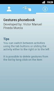 Gestures PhoneBook - screenshot thumbnail