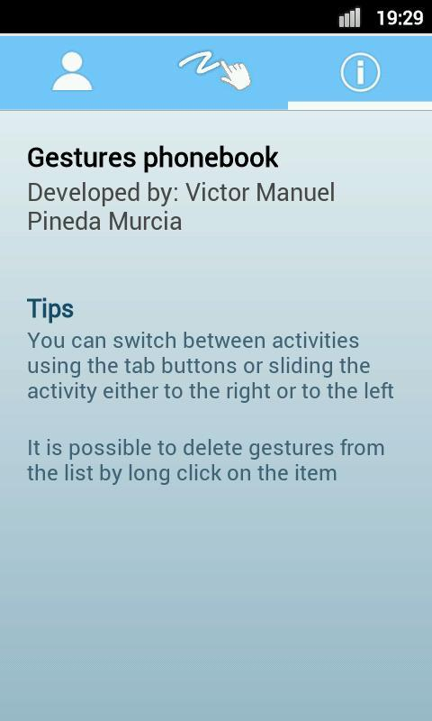 Gestures PhoneBook - screenshot