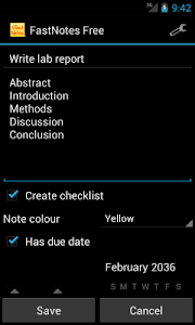 FastNotes Sticky Note Widget screenshot 3