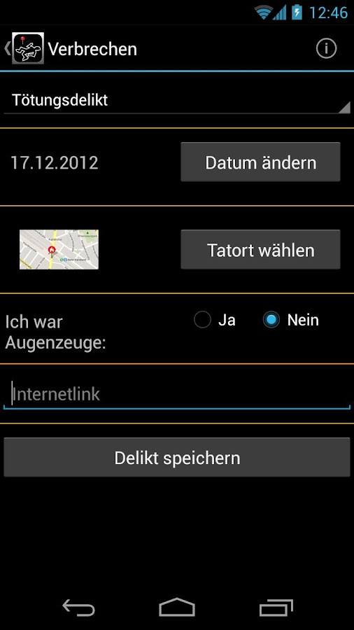 Verbrechen - screenshot