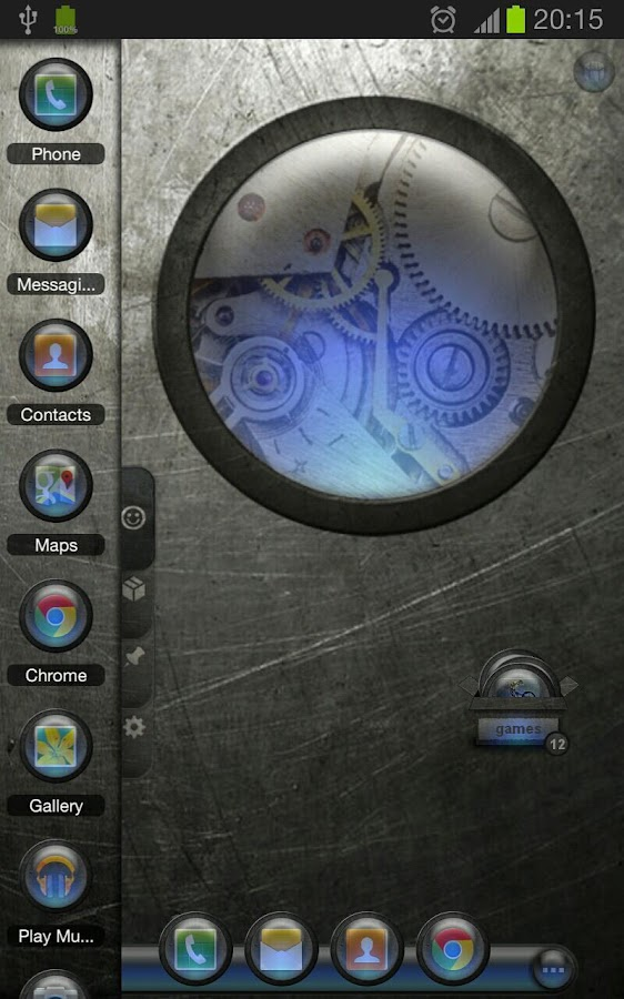 TSF Shell Theme EventGlassN HD - screenshot