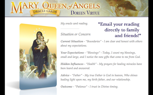 Mary, Queen of Angels Cards - screenshot thumbnail