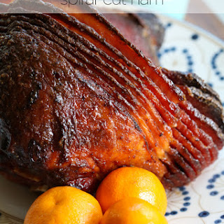 Orange and Brown Sugar-Glazed Ham.