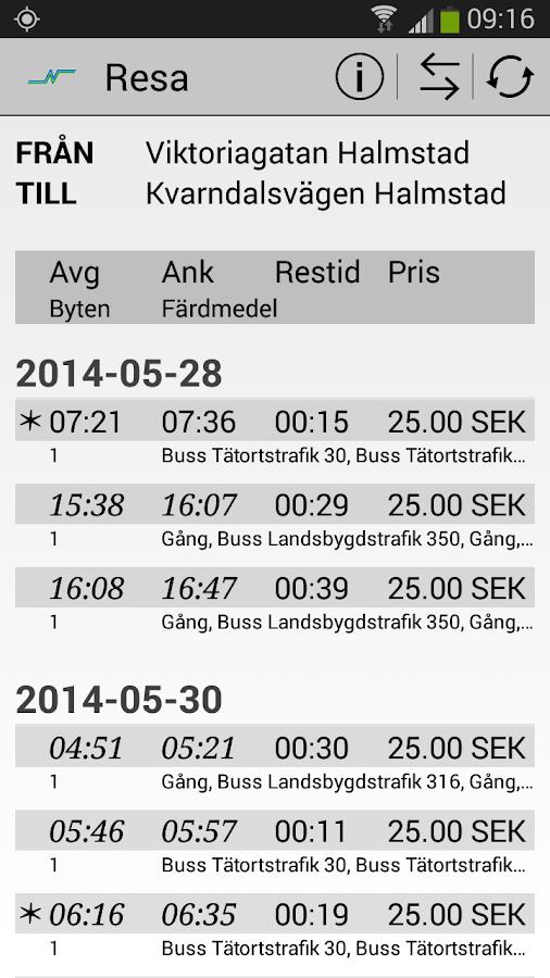 Hallandstrafiken - screenshot