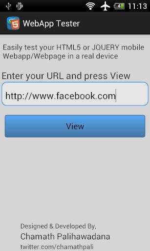 WebApp Tester